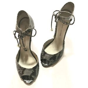 Marc by Marc Jacobs• Grey Snakeskin Heels